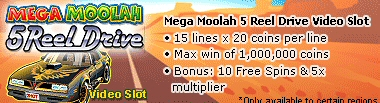 5 Reel Drive Mega Moolah
