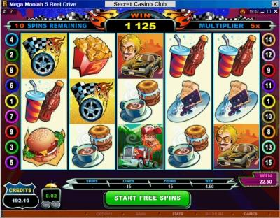 5 Reel Drive Mega Moolah Free Spin Bonus