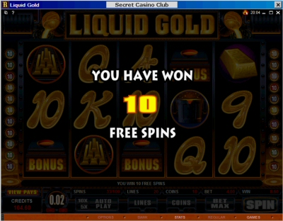 Free Spins Won