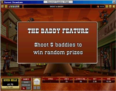 Sunset Showdown slot machine bonus introduction