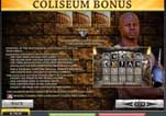 Free Gladiator Slot Machine Game Paytable Coliseum Bonus