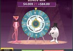 Free Pink Panther Slot Machine Game Wheel of Pink Bonus theird spin
