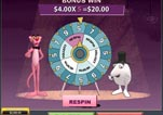 Free Pink Panther Slot Machine Game Wheel of Pink Bonus first spin