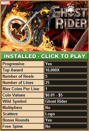 Ghost Rider Slot Machine