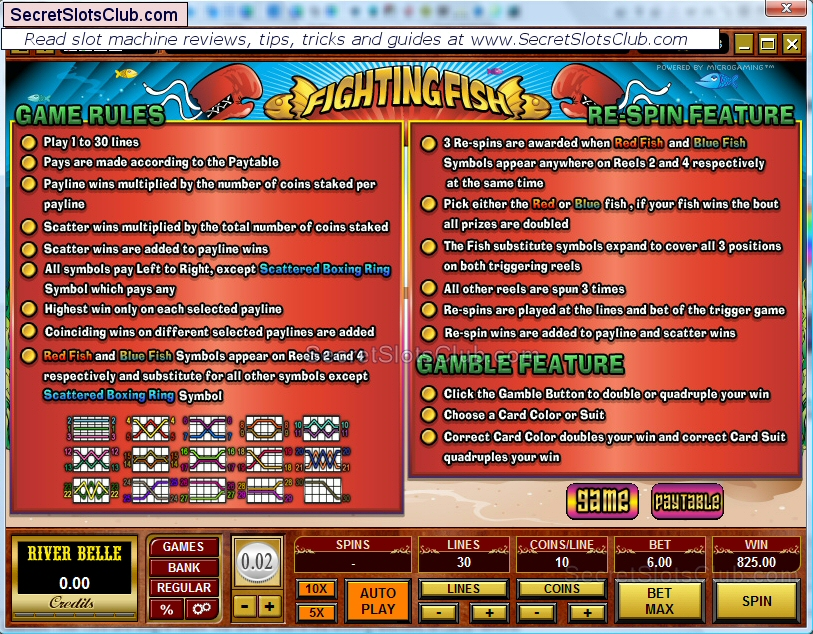 slot games rules