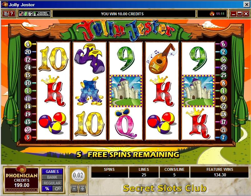 jolly jester casino slots