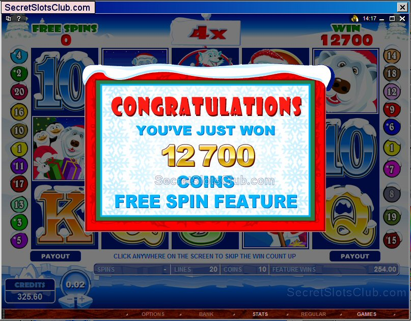 Nice Santa Paws Free Spin Bonus