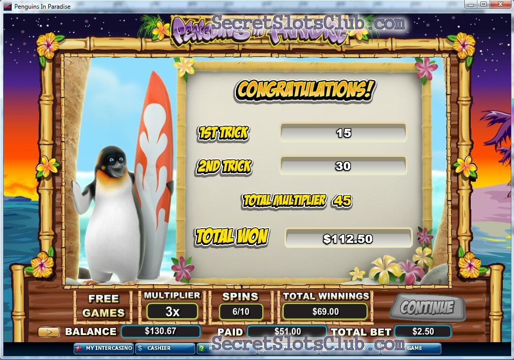 penguin slot machine